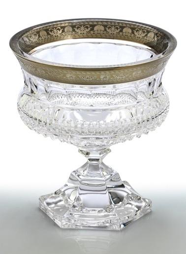 Decoristan Üzüm Motifli Gümüş Kristal Çiçeklik Küçük Gümüş